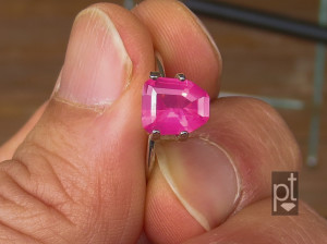 Mahenge Spinel in hand