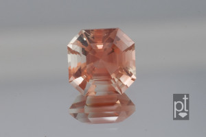 Sunstone Asscher on mirror