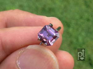 Square step cut spinel daylight