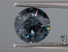 Blue-Gray Spinel Round