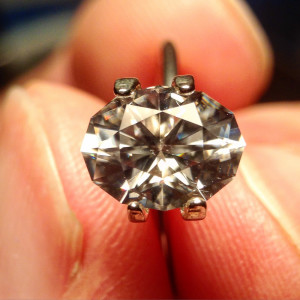 White Zircon after heating