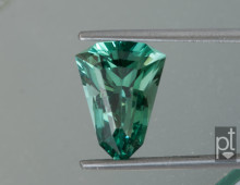 Blue-Green Tourmaline Shield